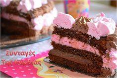 ΣΥΝΤΑΓΕΣ ΤΗΣ ΚΑΡΔΙΑΣ: Τούρτα φράουλα - σοκολάτα Cookbook Recipes, Cooking Recipes, Lila Pause, The Kitchen Food Network, Cupcake Cakes, Cupcakes, Greek Recipes, Food Network Recipes, Cake Pops