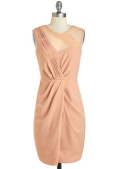 Bridesmaid dress option... May be too pale. $74    Heirloom of Elegance Dress, #ModCloth