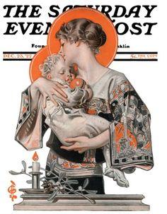 Modern-Madonna-and-Child-December-23-1922-J.C.-Leyendecker.jpg 450×578 pixels