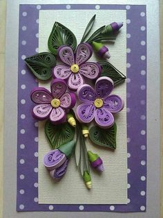 Quilled frames with flowers
