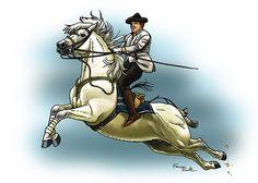 Cavalier de l'Ecole d'Art équestre de Jerez Tirage