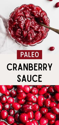 Paleo cranberry sauce is a Thanksgiving must-have! Healthy cranberry sauce is easy to make and refined sugar free. Holiday cranberry sauce is the perfect side dish. This cranberry recipe is made with whole fresh cranberries. Put it on top of turkey or make cranberry chicken. It's the best cranberry sauce recipe! There's even a jalapeño version if you like to spice things up. Homemade cranberry sauce is a delicious paleo recipe. Pin this to your cranberry ideas board! #simplyjillicious #paleo Spicy Cranberry Sauce, Cranberry Recipes, Holiday Recipes, Cranberry Chicken, Holiday Foods, Christmas Desserts, Christmas Recipes, Dairy Free Recipes, Paleo Recipes