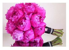 Hot Pink Peonies. Add bling Pins, Sheer Sparkly Wrap and bling to stems