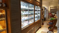 Built-in display case at Paris Baguette