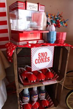 """Photo 23 of 94: Vintage Carnival / Birthday """"Carnival Extravaganza!""""   Catch My Party sno cone machine"""