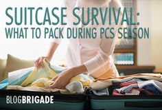 Suitcase Survival: What to Pack During PCS Season. Great suggestions for what to pack for the month+ that we'll be living from suitcases.