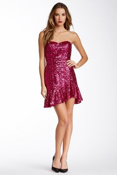 Jessica Rabbit bound?  Strapless Sequin Party Dress by Aidan Mattox on @nordstrom_rack