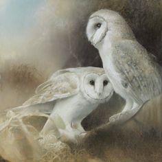 Paul Christiaan Bos Owlery VI: de twee Uilen Olieverf en tempra op paneel