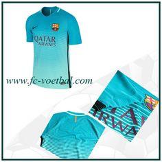 Klassieke Barcelona 3e Shirt Blauw Nike 2016 2017