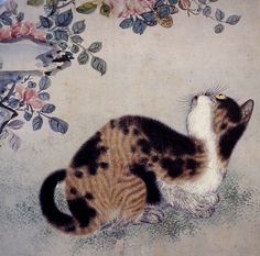 Cat Looking at Butterfly, by Byeon Sangbyeok (변 상벽), Joseon Period 18-19 Cent.