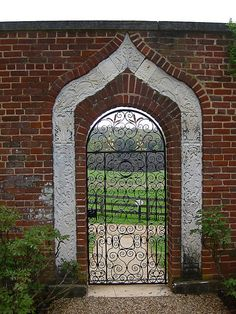 Gate at gardens of James Madison at Montpelier...so cool