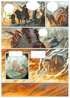 BRIGADA comic book PAGES by Enrique Fernandez, via Behance