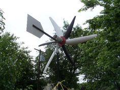 six blade wind generator