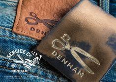 Garra, Denham Jeans, Typographic Logo, Promotional Design, Japanese Denim, Leather Label, Leather Jeans, Nudie Jeans, Label Design