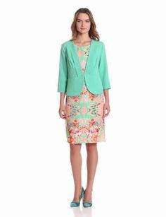 Danny & Nicole Women's Jacket Over Sheath Dress, Spearmint, 12 Missy Danny & Nicole. $54.99