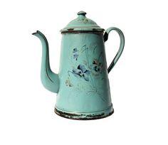 Enamel Coffee Pot by LeBonheurDuJour on Etsy, $80.00