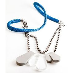 Lucite Fish Scale Necklace Clear now featured on Fab.