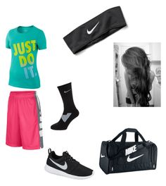 """""""Nike Gym class day"""" by kkhloe13 ❤ liked on Polyvore featuring NIKE"""