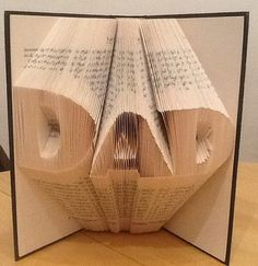 Book folding pattern for Dad FREE TUTORIAL by BookFoldingForever