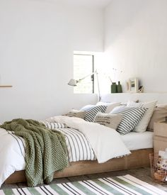 Light Green And White Bedroom. I've Come Over To The Light Side 10 Bedroom With White . Attractive Painting Ideas For Bedrooms Decorating Ideas . Home Design Ideas Bedroom Green, Dream Bedroom, Home Bedroom, Bedrooms, Bedroom Ideas, Earthy Bedroom, Green Bedding, Budget Bedroom, Master Bedroom