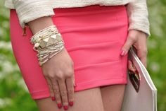 Absolutely gorgeous coral mini skirt :)