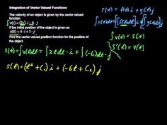 How to Solve Integration of Vector Valued Functions - Calculus Tips - http://www.thehowto.info/how-to-solve-integration-of-vector-valued-functions-calculus-tips/