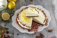 Cheesecake de limão e chocolate Cheesecakes, Camembert Cheese, Dairy, Chocolate, Breakfast, Wafer Cookies, Lemon Cheesecake Recipes, Orange Crush Cake, Cook