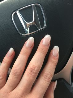 Please excuse my winter hands got myself some pale white rounded acrylic nails for my friends wedding!