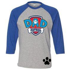 Personalizado papá patrulla pata cumpleaños camisa de patrulla