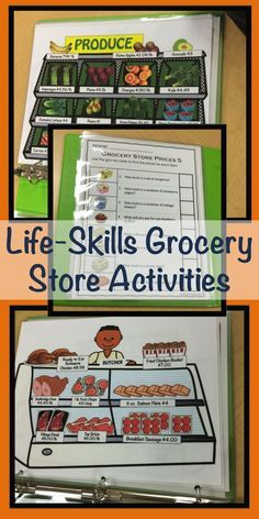 Special Education Grocery Store Activities for Functional Life Skills Grocery store flyers, stores with prices, coupons, worksheets and task cards requiring functional literacy and math skills to practice finding prices, making shopping lists and adding Life Skills Lessons, Life Skills Activities, Life Skills Classroom, Teaching Life Skills, Autism Classroom, Special Education Classroom, Math Skills, Money Activities, Autism Education