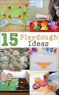 Are your kids tired of playing with ordinary playdough? Well, these playdough play ideas will give your child a chance to explore their creative side while using playdough as a prop in imaginative play.
