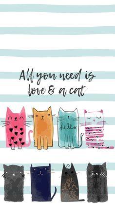 41 Ideas For Cats Wallpaper Iphone Screens - Eye Candy - Katzen Cartoon Wallpaper, Iphone Wallpaper Cat, Wallpaper Art, Cat Doodle, Eye Candy, Cat Background, Cat Sketch, Cat Pose, Super Cat