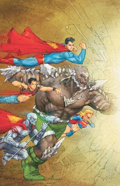 Superman, Supergirl, Steel, & Suberboy by Kenneth Rocafort