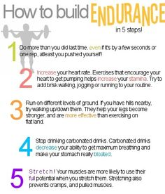 How to Build your Endurance In 5 Steps