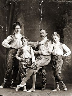 Performers in John Robinson's Circus. c1900-1910s.