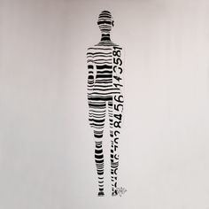 """A Woman is Not a Barcode."" Thanks to Emily McClain for sharing this great painting with us! Emily was inspired to create this to bring attention to the issue of human trafficking."