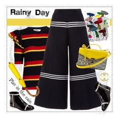 """""""Rainy Day: EightyEight 88 Bag"""" by nantucketteabook ❤ liked on Polyvore featuring Marmont Hill, MSGM, Baum und Pferdgarten, Calvin Klein, London Undercover, Handle and Identity"""