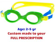 c558fd5a4ae  2-5 yrs  Babies   Toddlers Prescription Swim Goggles S37 (Custom Made to  Prescription) - Green