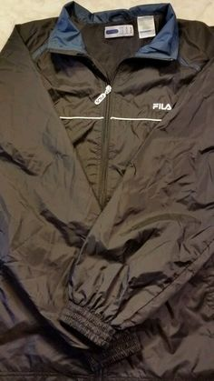 FILA-Men's Size Medium  Windbreaker Jacket Water Resistant  #Fila #Windbreaker