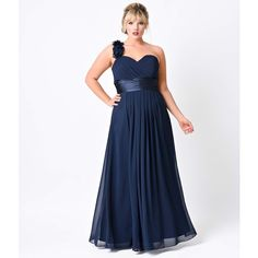 Plus Size Navy Chiffon Floral Cold Shoulder Long Gown ($88) ❤ liked on Polyvore featuring plus size women's fashion, plus size clothing, plus size dresses, plus size gowns, blue, plus size evening gowns, plus size prom dresses, navy blue evening dress, long white dress and navy blue evening gown