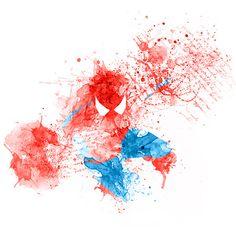 Paint Splatters - Spider man