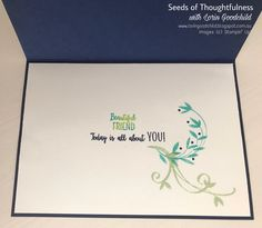 Seeds of Thoughtfulness with Lorin Goodchild Stampin' Up! 2017-2018 Sale-a-bration - Beautiful Peacock & You're Priceless