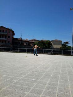 My husband ! #sebaskates #highblackdeluxe #rockered #seba #inline #roller #skate #freestyle #street #slalom