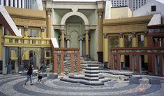 Piazza D'Italia - Italian-inspired architecture in New Orleans  http://en.wikipedia.org/wiki/Piazza_d'Italia