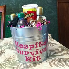 Clever Gift Buckets - Baby shower gift- or even for anyone in the hospital just fill with different items
