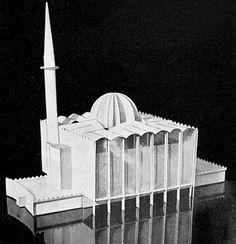 *Maciej  Nowicki  i Stanisława Sandecka zaprojektowali w drugiej połowie lat 30. taki oto meczet, który zdobył III nagrodę. Na projekcie się skończyło
