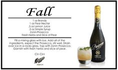 #Fall into this cocktail! #ZoninProsecco