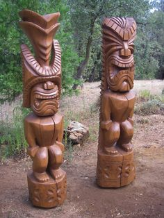 6 ft. 3 in. Cedar Tikis by TimberCoveTiki on DeviantArt