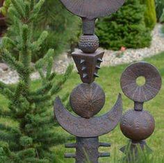 Bildergebnis für hanging handmade clay totem by Robin Wade