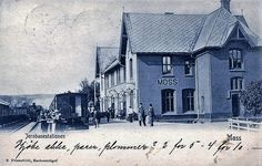 Østfold fylke Moss jernbanestationen brukt 1904 Utg R. Frisenfeldt